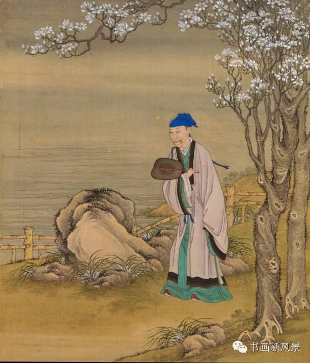 在这套行乐图中,雍正皇帝以各种面貌出现,化身为古代的文人贤士或是