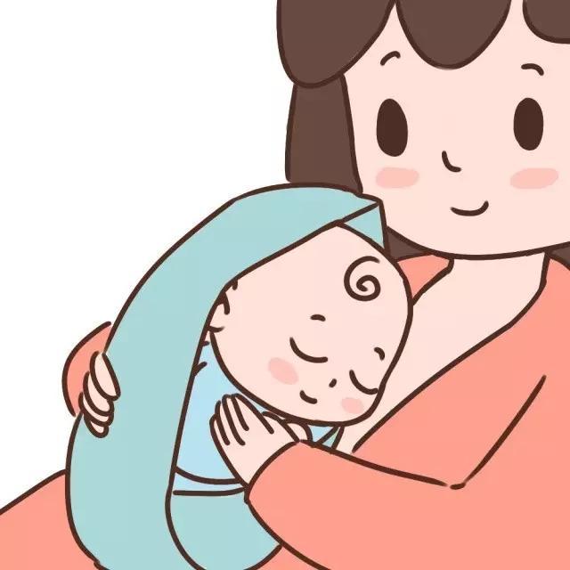 妈妈拥抱宝宝的简笔画_与宝宝直接肌肤相贴,妈妈的温度和心跳或许可以让宝宝安稳下来.