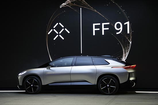 S上展出的乐视FF91电动汽车-直击CES 哪些中国企业在CES上出尽高清图片