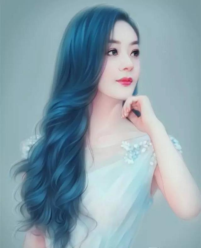 赵丽颖最美手绘图面若桃花惹人怜