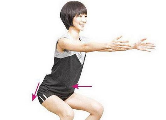 简单床上瘦腿减肥动作图片