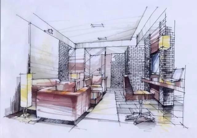 房子内部结构简笔画-令人惊叹的精美手绘图,我伙已呆