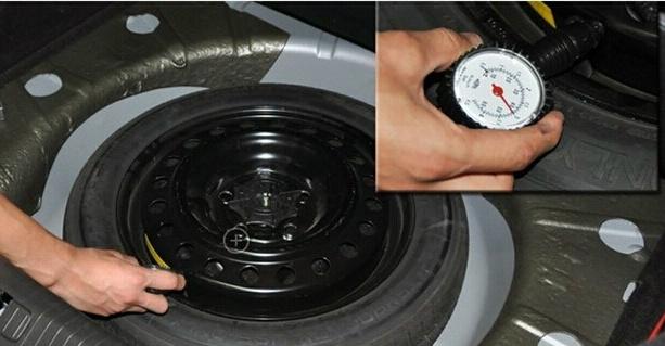 五,轮胎气压检测好 预防爆胎保平安图片