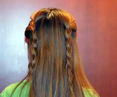 两款简单漂亮的长发编发发型