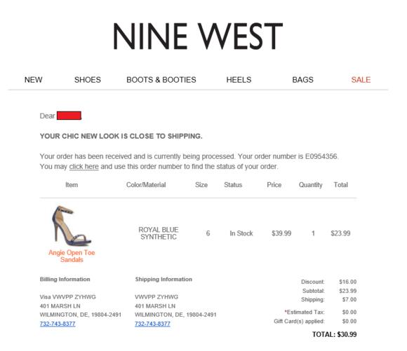 中邮海外购晒单+ Nine West女鞋尺码对照表