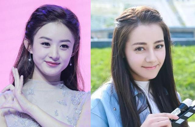 迪丽热巴和赵丽颖同款发型,没有对比就没有伤害!图片