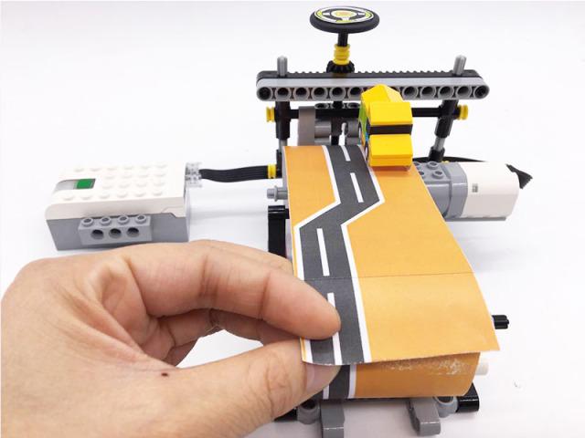 玩乐高学机械 : 赛车游戏机 v.s.带传动机构