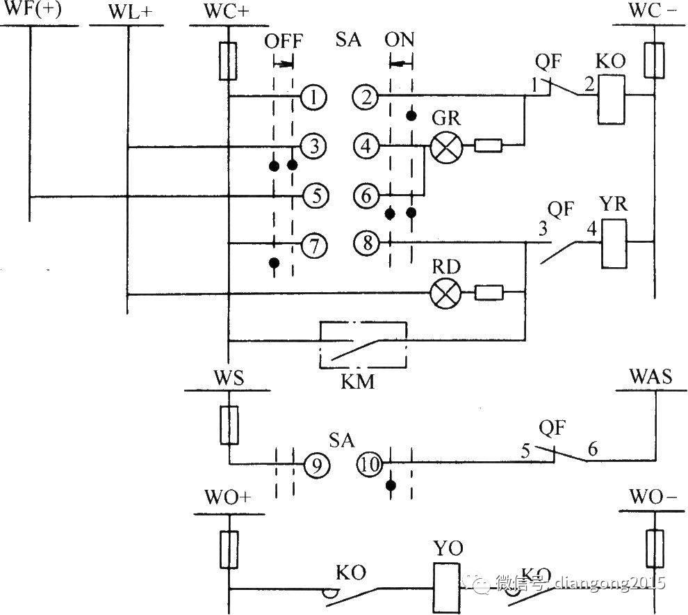 自动合闸装置接线图
