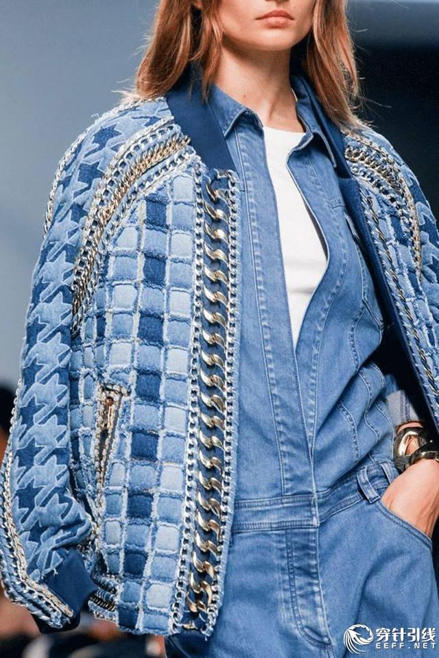 服装面料再造论+�_牛仔细节|创意全集 完美面料肌理再造成衣