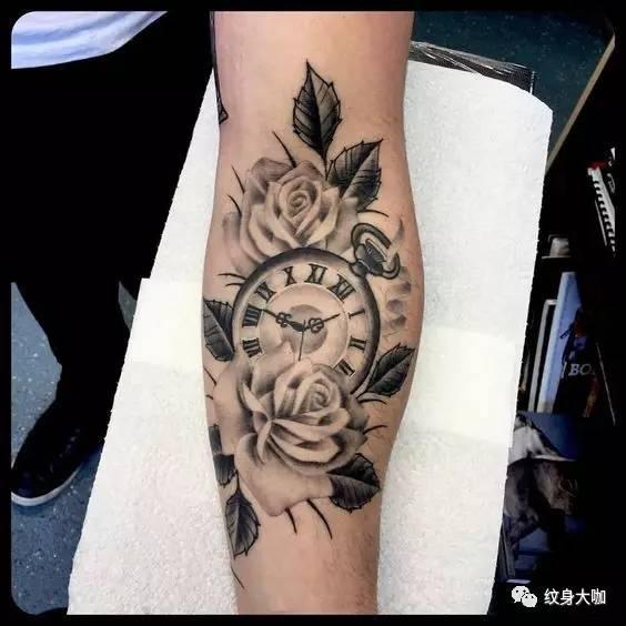 纹身素材:怀表