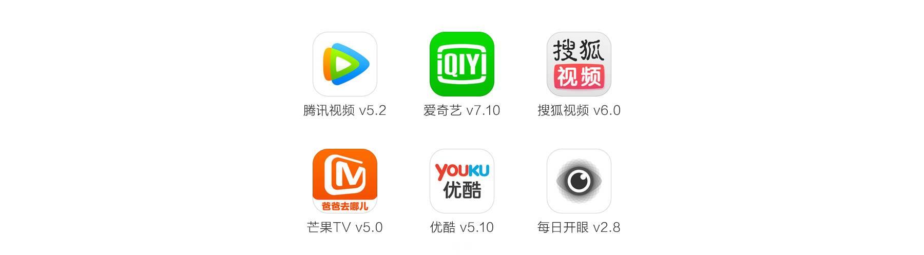 本文选择腾讯视频,爱奇艺,搜狐视频和芒果tv进行界面整体的对比,在
