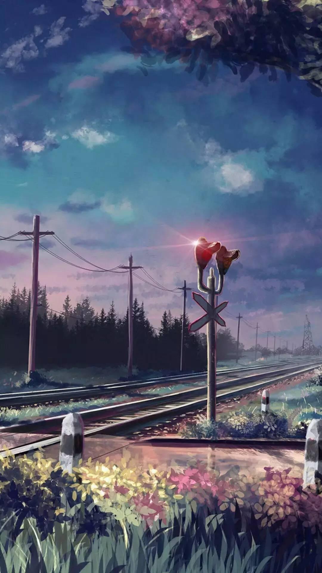唯美动漫风景手机壁纸图片