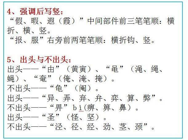 7000个汉字的规范笔顺 寒假必须让孩子全部拿下