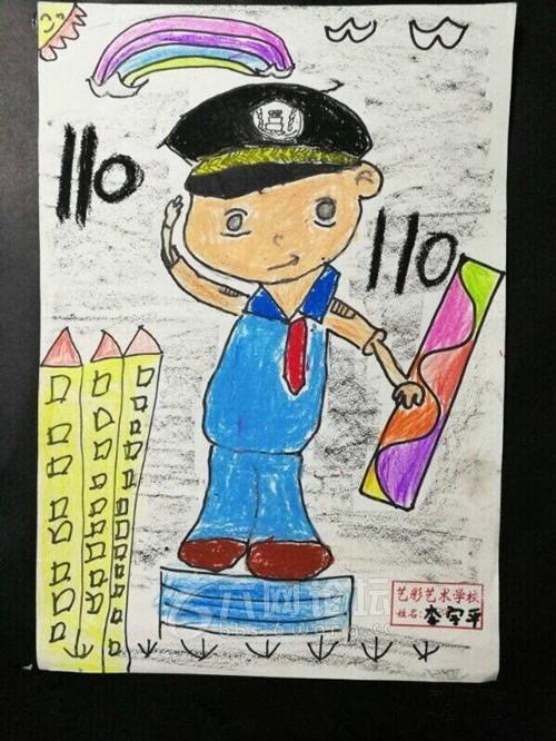 六安开展110宣传日活动少儿绘画作品深受市民喜爱