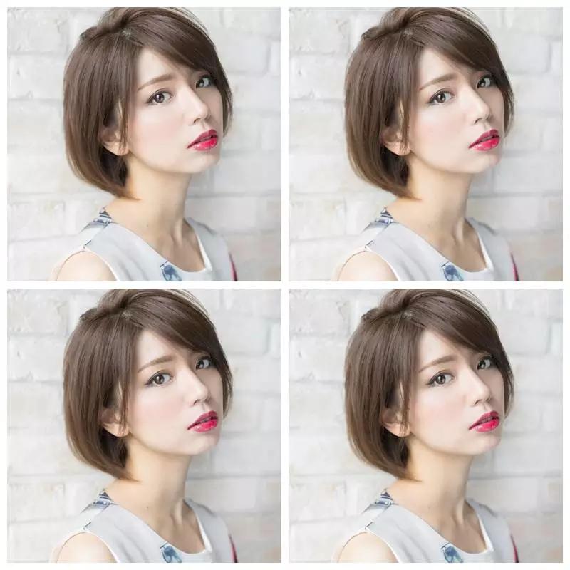 日式女士短发内扣发型集图片