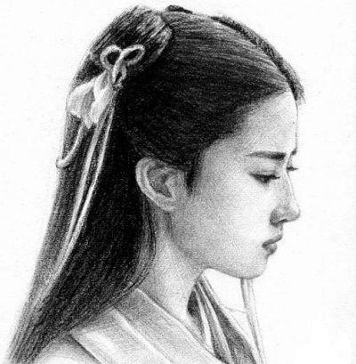 明星素描照 赵丽颖最可爱 最后一张没人认出来 搜狐