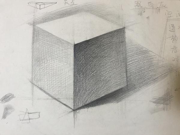 正方体素描图片图片