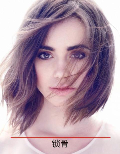 锁骨发就是长度到锁骨位置的短发发型,和lob头不同的是,它对于头发图片