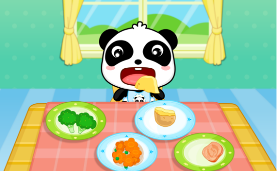 宝宝巴士以宝宝最喜爱的熊猫形象设计了【宝宝爱吃饭】,针对3岁宝宝图片