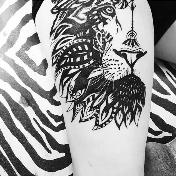 纹身|狮子座图案