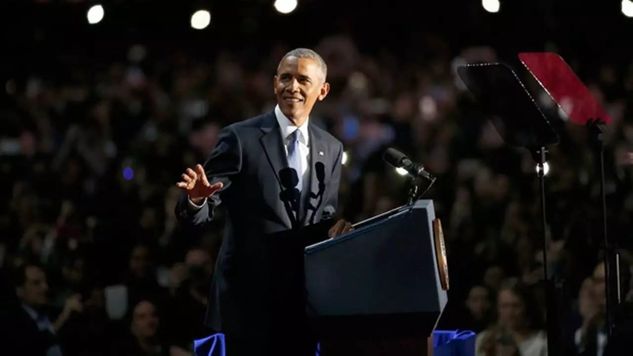 奥巴马发表告别演讲,挥泪感谢米歇尔,但仍然不忘怼中国图片