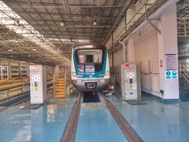 惊艳 由青岛北站发往黄岛的地铁已开通