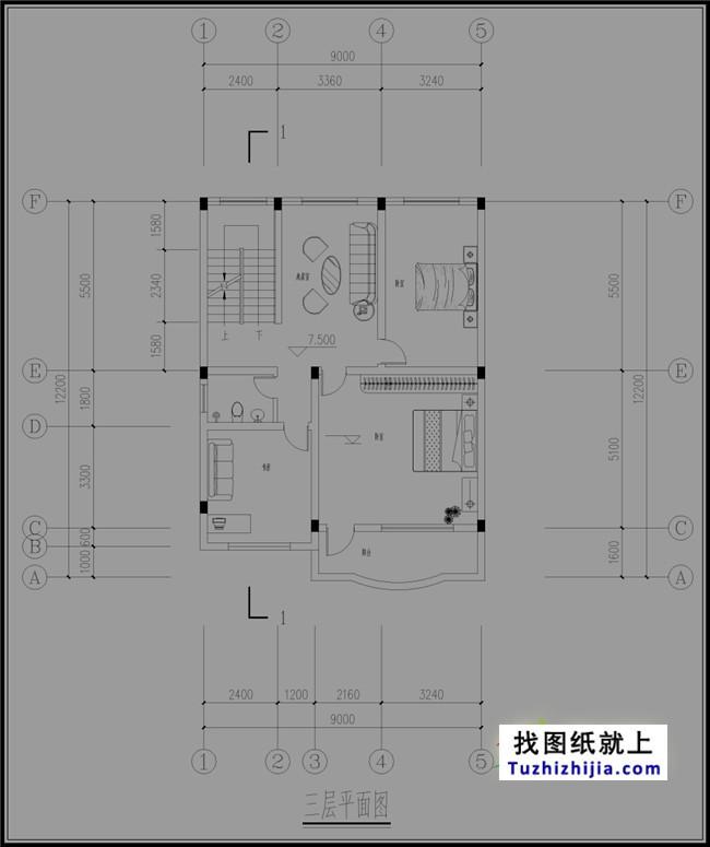 仿房屋四层简单新农村徽派v房屋图纸适合房屋建筑设计图怎么画图片
