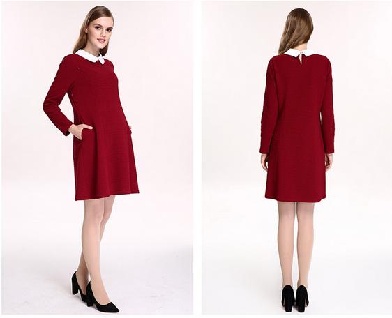 孕妇装秋冬装 2017最流行的红色新年装