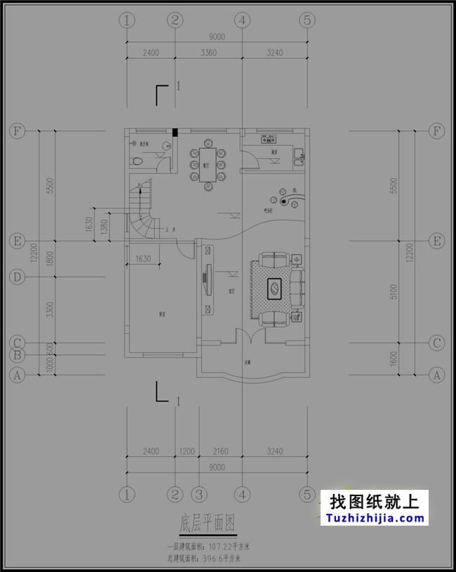 仿字体四层简单新徽派电脑设计图纸适合如何农村房屋设计图片