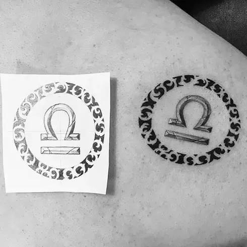 纹身 天秤座 图案图片