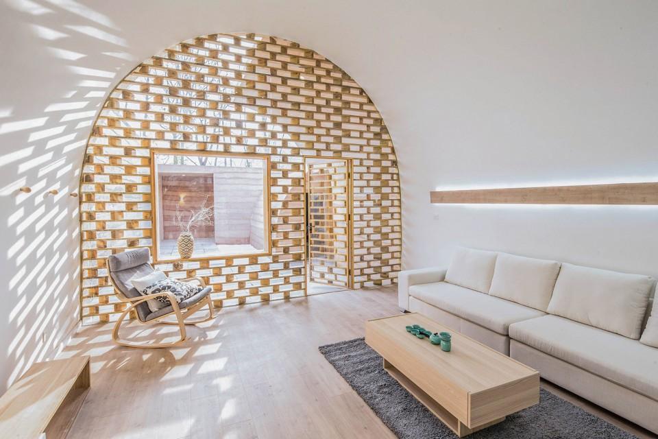 设计师就地取材大v茶具,茶具窑洞空间外国传统的现代黄土高坡设计素材图片