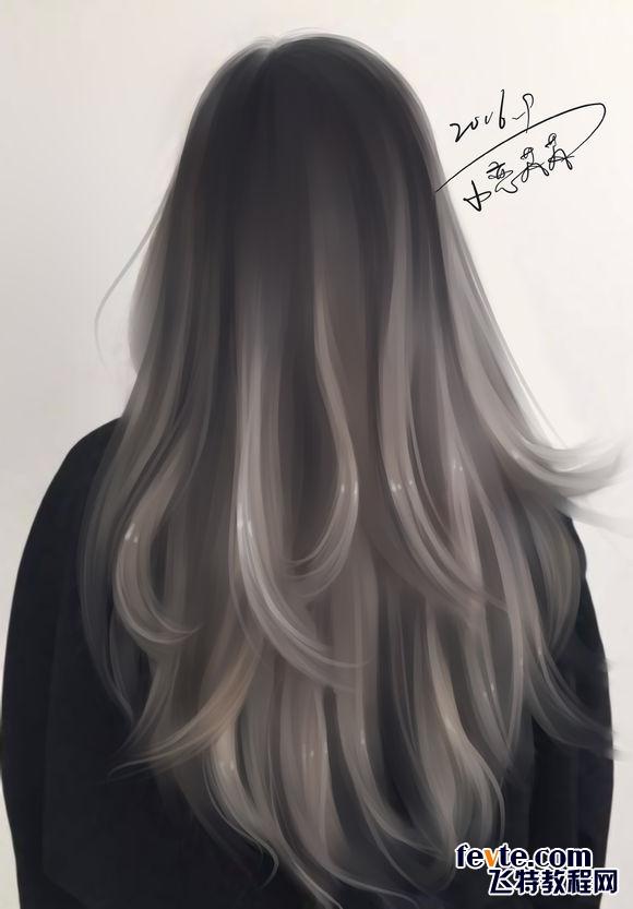 ps照片转手绘之头发的处理