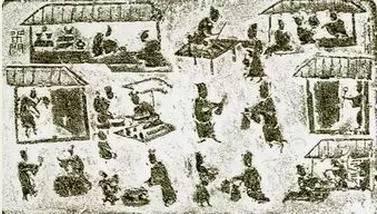 古代劳作矢量图