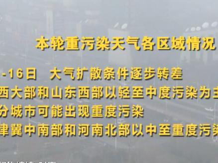 注意!京津冀等地霾情又起,将持续5天左右
