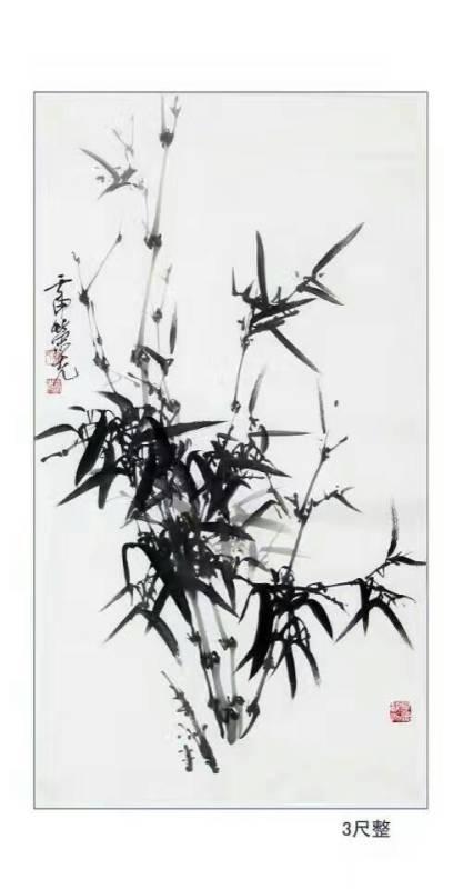 当代擅长画竹子的画家 陈荣先图片