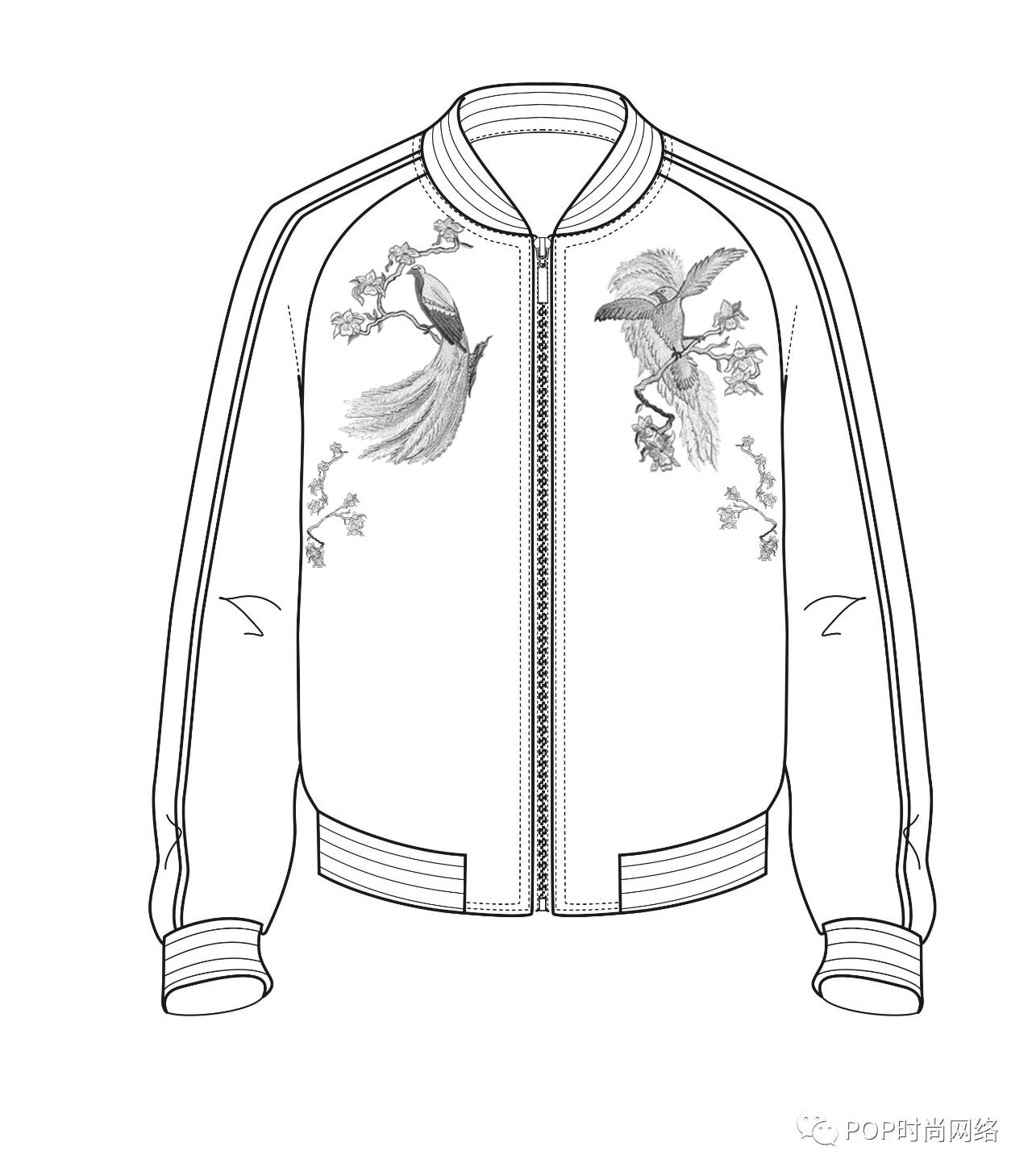 花衬衫 手绘设计图图片