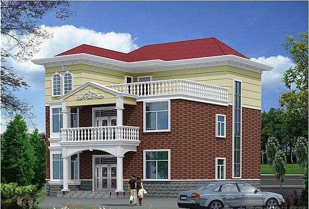 5套农村别墅设计图, 搭配这样的建筑材料堪称完美!
