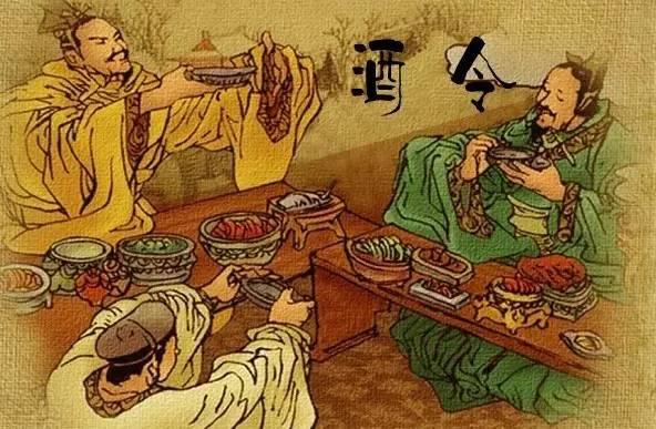 清代宴饮手绘图