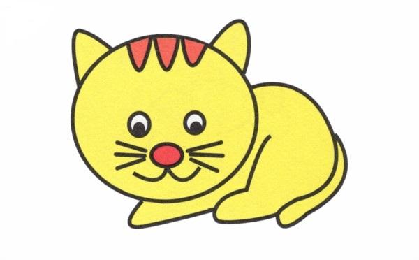 幼儿园简画 小花猫