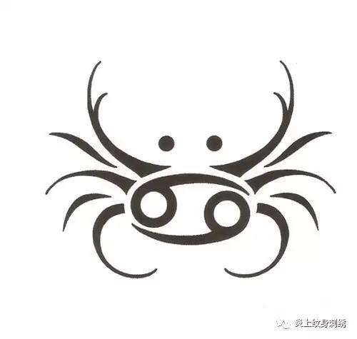 纹身 巨蟹座图案