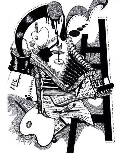 干货丨想要画好校考里的黑白装饰画,赶紧学起来图片