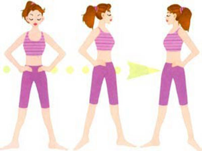 4、拱桥式   仰卧床上,双腿屈曲 随着锻炼的进展,可将双臂放于胸