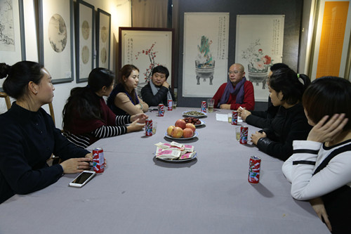 《山川万世如故》作品研讨会在河南润心画院举行