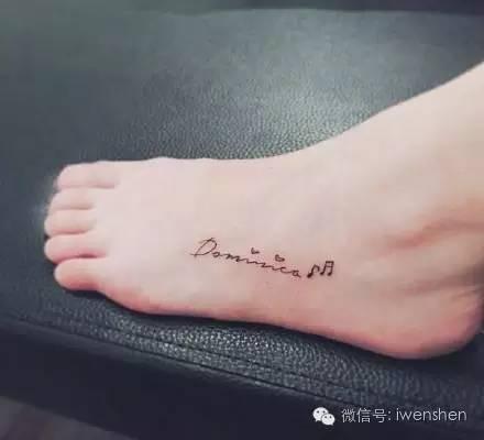 女生脚踝纹身图案推荐,小清新必备呐图片
