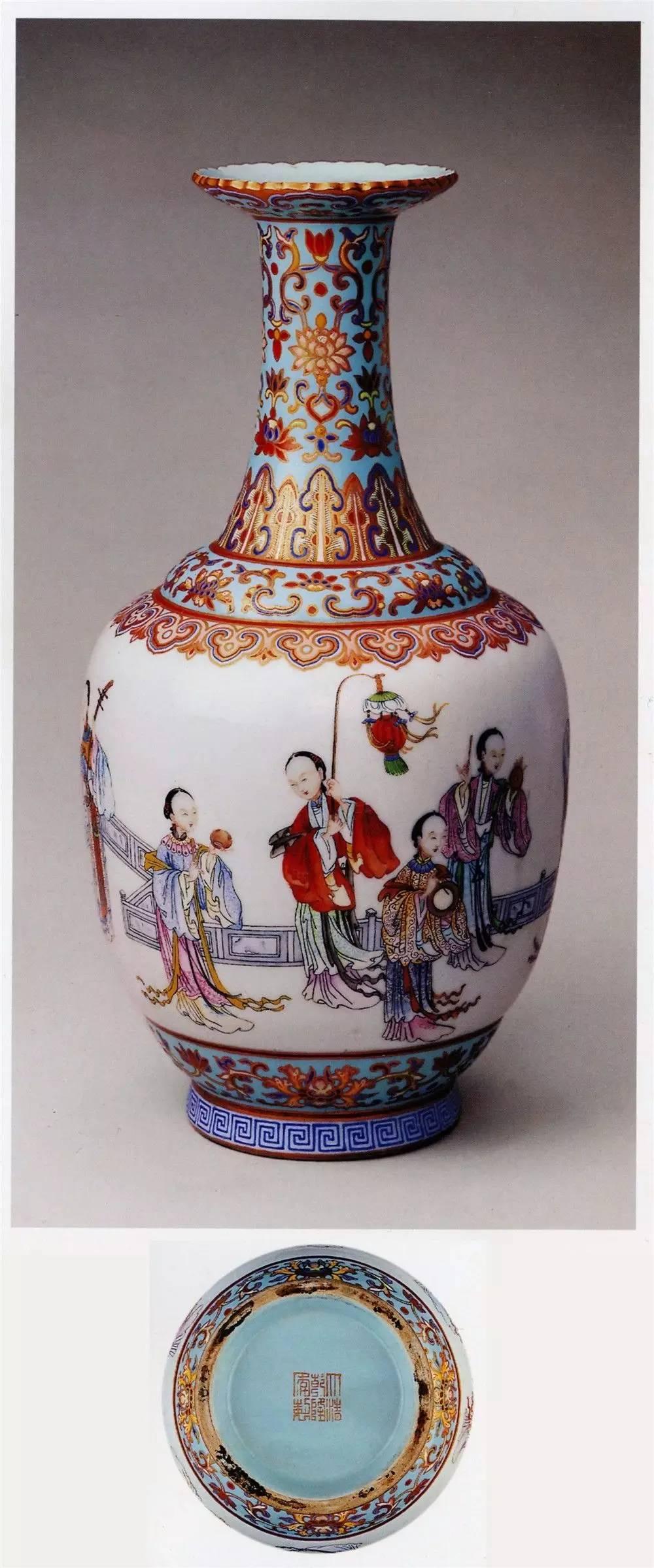 清乾隆时期粉彩瓷器的鉴赏 从乾隆粉彩百鹿螭耳尊谈起图片