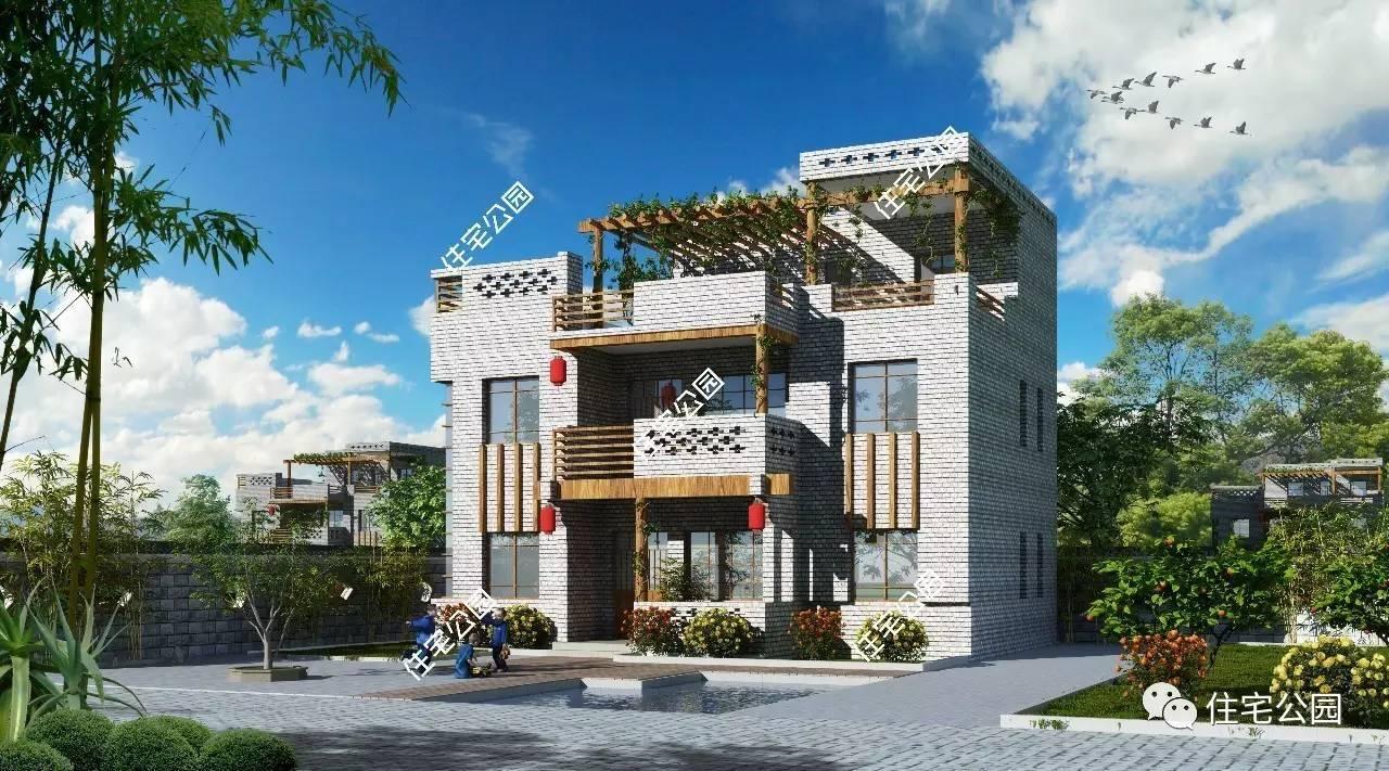12x10中式自建房,带屋顶花园,享惬意好生活