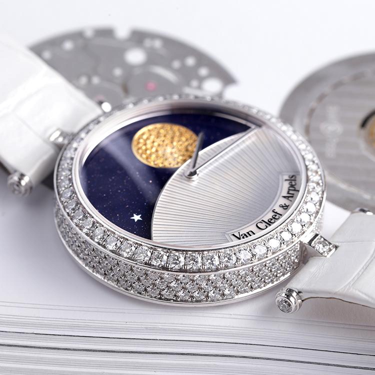 vca梵克雅宝日月星辰vcarn25800诗意复杂功技巧lol对线小手表图片