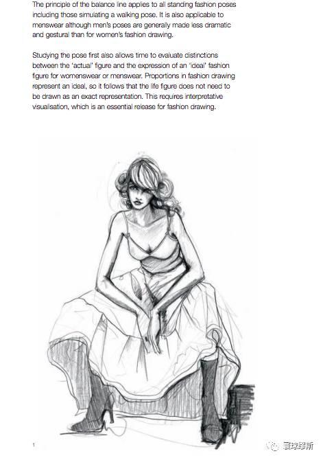 t台模特手绘素描