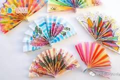 儿童手工制作春节装饰扇子