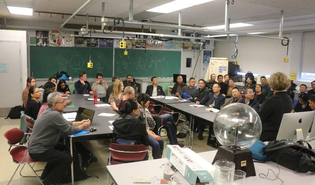 【国际交流】杭州市数学物理骨干教师加拿大研高中高中手写图片